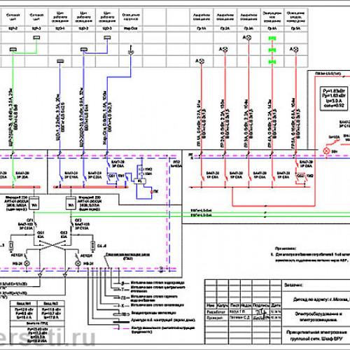 Электрическая схема проекта
