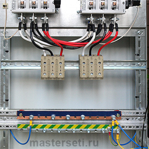 Клеммники для подключения вводных кабелей