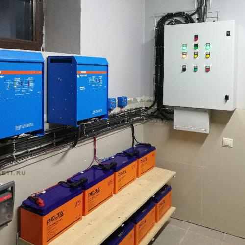 Стало: электрический щит, инверторы и аккумуляторные батареи