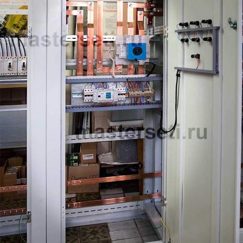 Панель секционного автомата. Световая сигнализация и управление