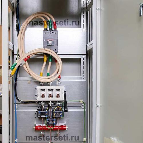 Вводная панель, рубильник и вводный автомат