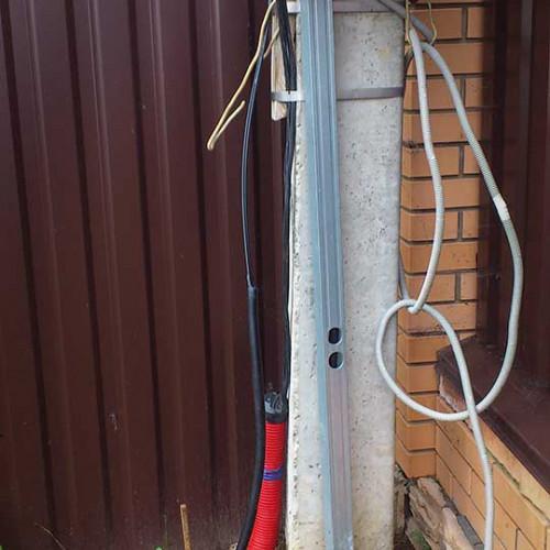 Прокладка кабеля по улице
